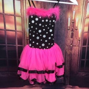 Pink Tutu Costume Dance Outfit Small Child